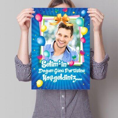 Doğum Günü Partisine Özel Poster - Thumbnail
