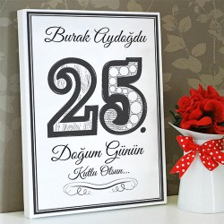 - Doğum Günün Kutlu Olsun Kanvas Tablo