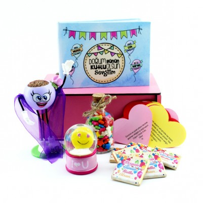 Doğum Günün Kutlu Olsun Sevgilim Hediye Kutusu - Thumbnail