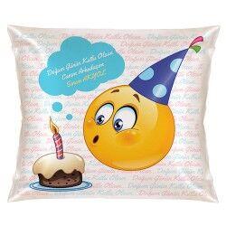 Doğum Gününe Özel Gülen Yüz Yastık - Thumbnail