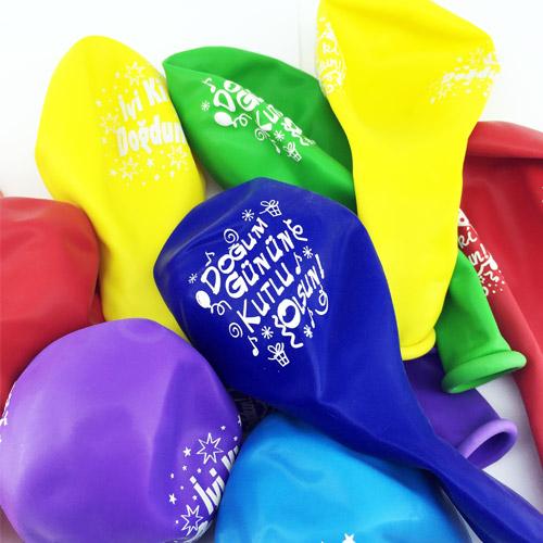Doğum Gününe Özel Mesajlı Balonlar 10'lu