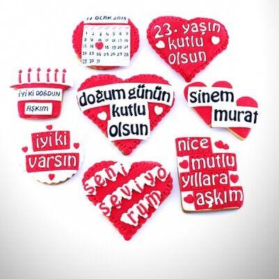- Doğum Gününe Özel Mesajlı Kurabiyeler