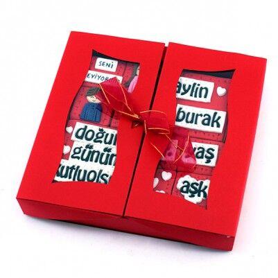 Doğum Gününe Özel Pencere Kutuda Butik Kurabiye - Thumbnail