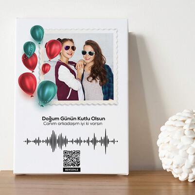 Doğum Gününe Özel Ses İzi Kanvas Tablo - Thumbnail