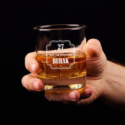 - Doğum Gününe Özel Viski Bardağı
