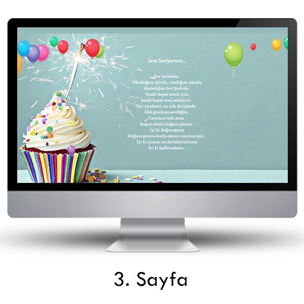 Doğum Gününe Özel Web Sitesi