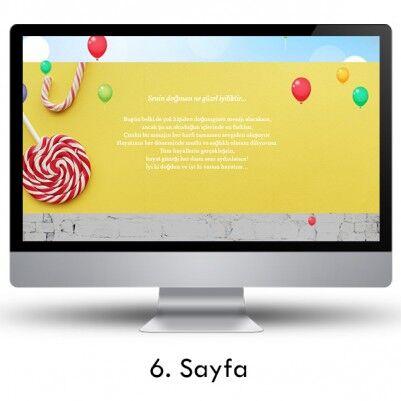 Doğum Gününe Özel Web Sitesi - Thumbnail