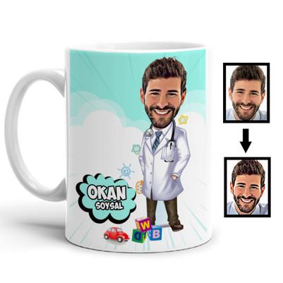 - Doktor Karikatürlü Kupa Bardak