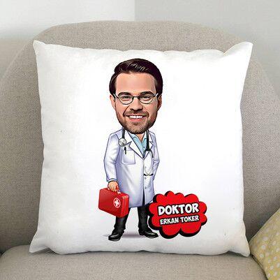 - Doktor Karikatürlü Yastık