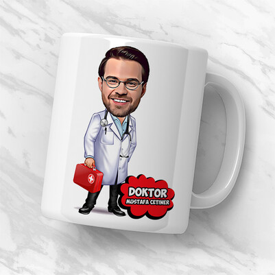 Doktora Hediye Komik Konsept Hediye Kutusu - Thumbnail