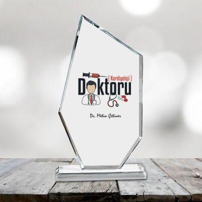 - Doktora Özel Hediyelik Asimetrik Kristal Ödül