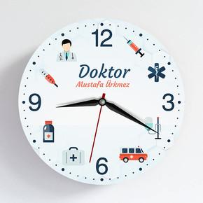 - Doktora Özel İsimli Duvar Saati