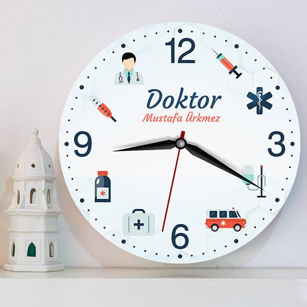 Doktora Özel İsimli Duvar Saati
