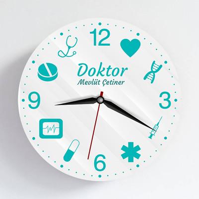 - Doktora Özel Tasarım Duvar Saati