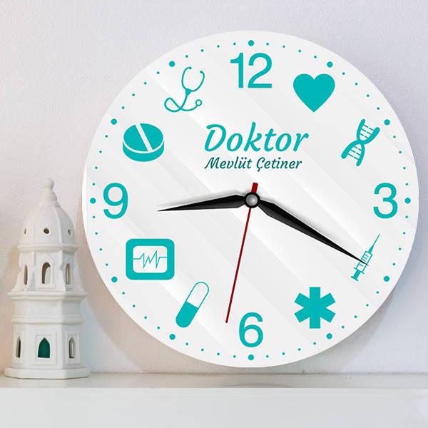 Doktora Özel Tasarım Duvar Saati