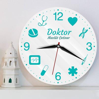 Doktora Özel Tasarım Duvar Saati - Thumbnail