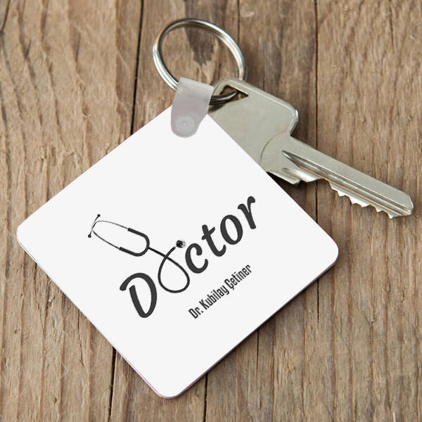 Doktorlara Hediye Mesleki Anahtarlık