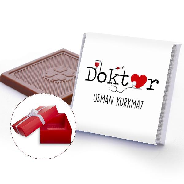 Doktorlara İsme Özel Çikolata
