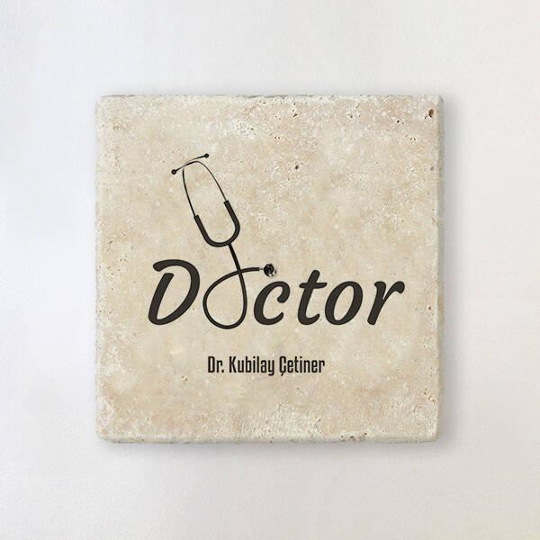 Doktorlara Özel Mesleki Taş Bardak Altlığı