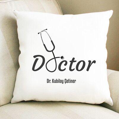 - Doktorlara Özel Mesleki Tasarım Yastık