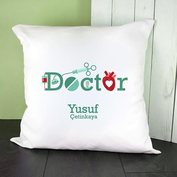 Doktorlara Özel Mesleki Temalı Kare Yastık