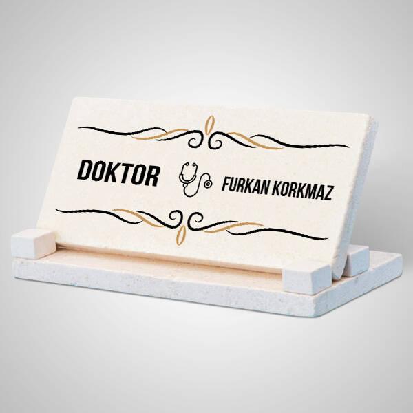Doktorlara Özel Taş Masaüstü İsimlik