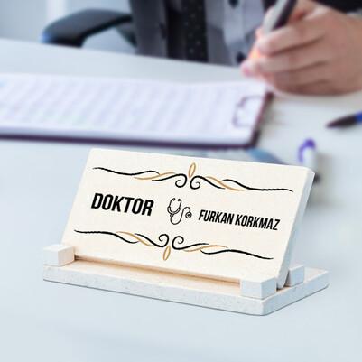 - Doktorlara Özel Taş Masaüstü İsimlik