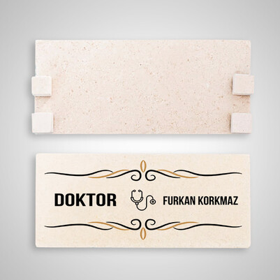 Doktorlara Özel Taş Masaüstü İsimlik - Thumbnail