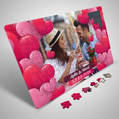 Dopdolu Romantik Kalpler 130 parça Puzzle - Thumbnail