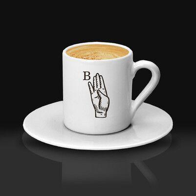 - Dosta Hediye Baş Harfli Kahve Fincanı