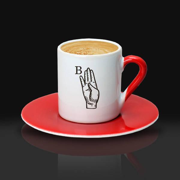 Dosta Hediye Baş Harfli Kahve Fincanı