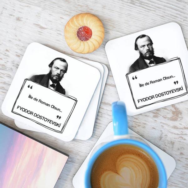 Dostoyevski Esprili Bardak Altlığı Seti