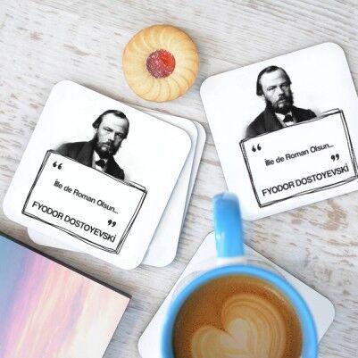 - Dostoyevski Esprili Bardak Altlığı Seti
