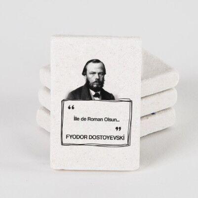 - Dostoyevski Esprili Taş Buzdolabı Magneti