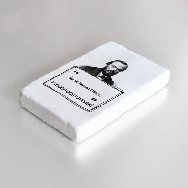 Dostoyevski Esprili Taş Buzdolabı Magneti