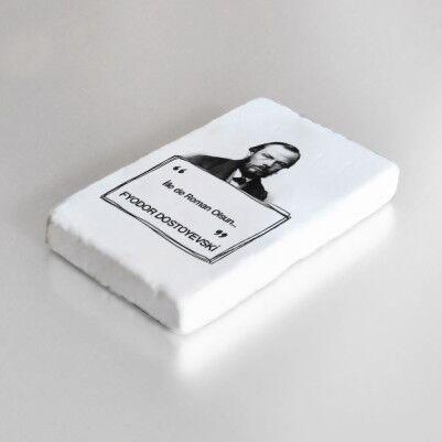 Dostoyevski Esprili Taş Buzdolabı Magneti - Thumbnail