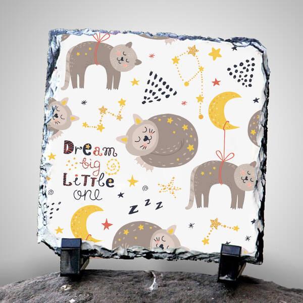 Dream Big Little One Dekoratif Taş Baskı