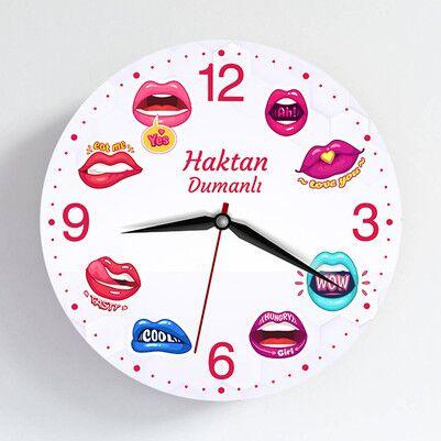 - Dudak Tasarımlı Duvar Saati