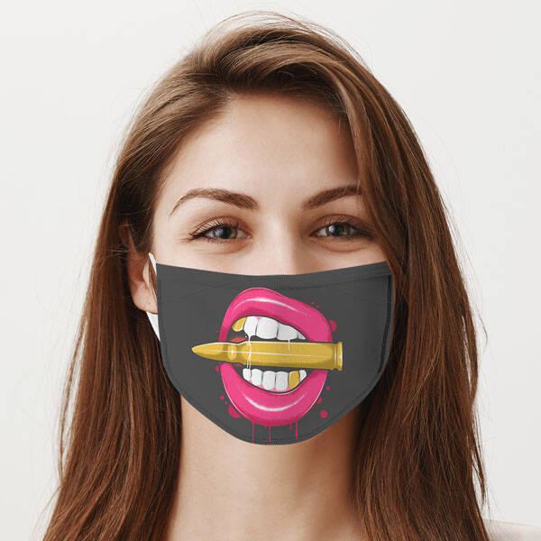 Dudak ve Kurşun Yıkanabilir Maske