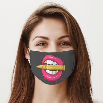 Dudak ve Kurşun Yıkanabilir Maske - Thumbnail