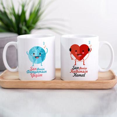 - Dünyam ve Kalbim İkili Sevgili Kupası
