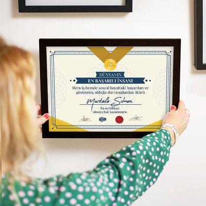 Dünyanın En Başarılı İnsanı Sertifikası - Thumbnail