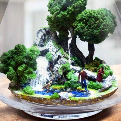 Düşler Bahçesi - Teraryum Minyatür Bahçe - Thumbnail