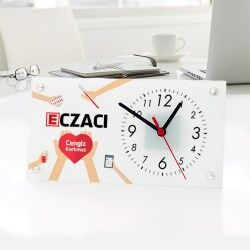 - Eczacılara Özel Cam Masa Saati
