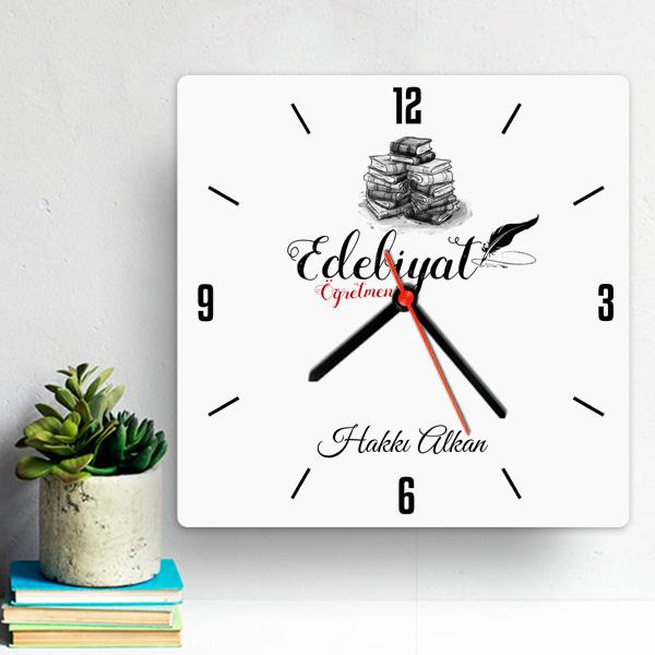 Edebiyat Öğretmenlerine Hediye Duvar Saati