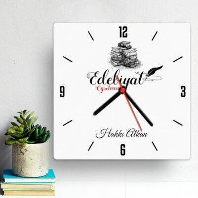 - Edebiyat Öğretmenlerine Hediye Duvar Saati