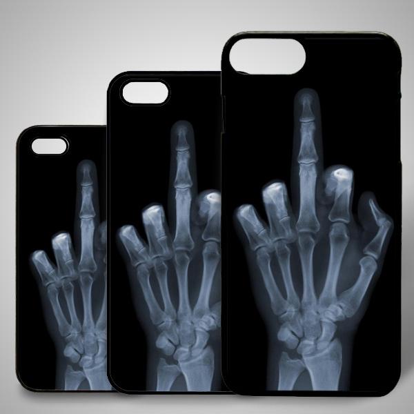 Edepsiz Parmak iPhone Telefon Kapağı