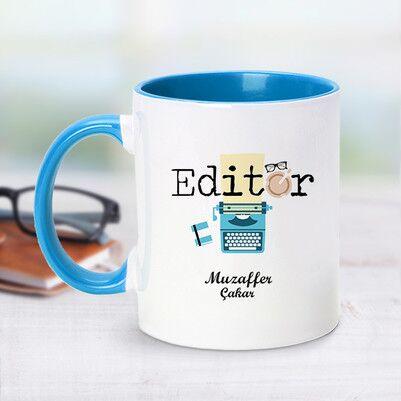 - Editör İçin Mavi Kupa Bardak