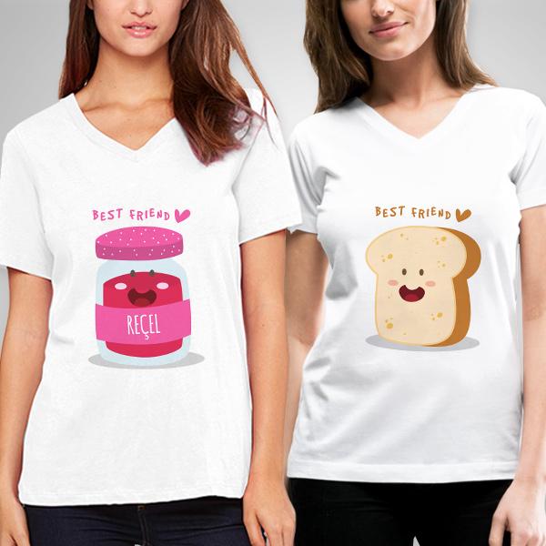 Ekmek ve Reçel Arkadaşlık Tişörtü