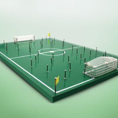 El Yapımı Nostaljik Çivili Futbol Sahası - Thumbnail
